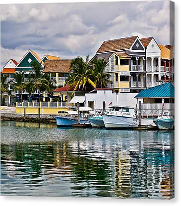 Canvas Print featuring the photograph Bahamian Color by Ron Dubin