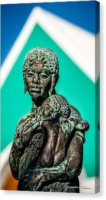 Bahamian Mother And Child Canvas Print by Christopher Holmes