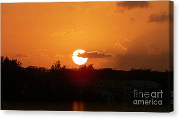 Mystic Setting Canvas Print - Bahamian Sunset by Gina Sullivan