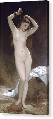 Baigneuse Or Bather Canvas Print by William-Adolphe Bouguereau