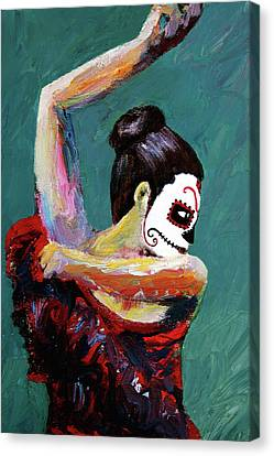 Bailan De Los Muertos Canvas Print