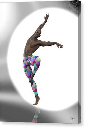 Bailarin Con Foco Canvas Print