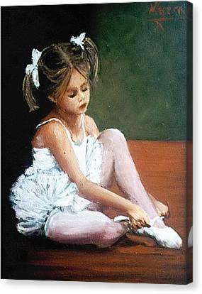 Bailarina Canvas Print by Natalia Tejera