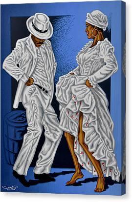 Caribbean Canvas Print - Baile De Figura by Samuel Lind
