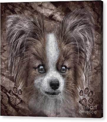 Animal Artist Canvas Print - Bailey by Shafawndi Heartski