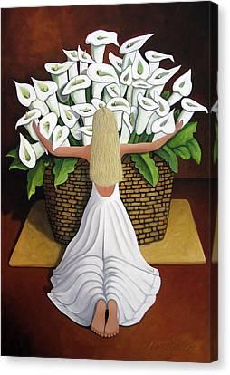 Baileyrae Lilies Canvas Print by Lance Headlee