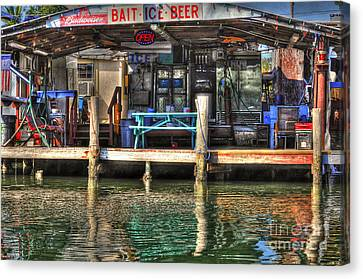 Bait Ice  Beer Shop On Bay Canvas Print by Dan Friend