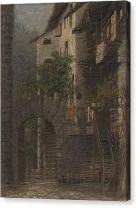 Baite In Val Di Non Canvas Print by Bartolomeo Bezzi