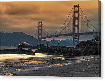 Baker Beach Golden Gate Canvas Print