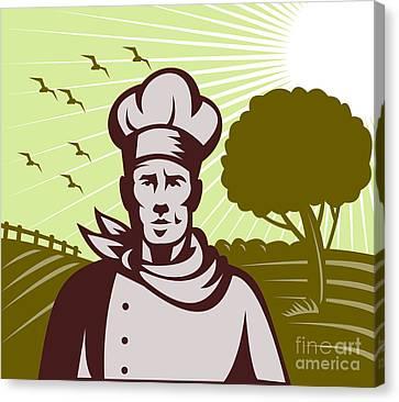 Baker Chef  Canvas Print by Aloysius Patrimonio
