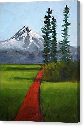 Canvas Print featuring the painting Baker Meadow by Nancy Merkle