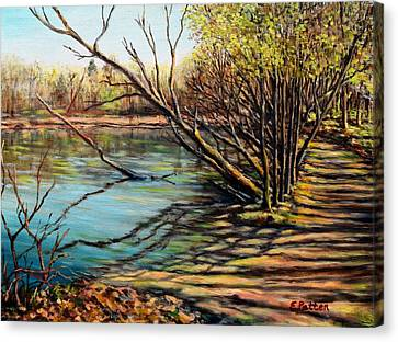 Bakers Pond Ipswich Ma Canvas Print by Eileen Patten Oliver