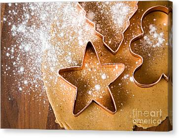 Baking Christmas Cookies Canvas Print