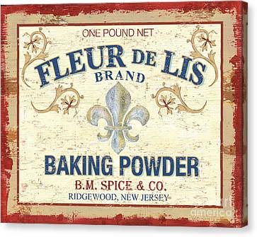 Baking Powder Fleur De Lis Canvas Print