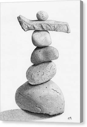 Balance 4  Drawing  Canvas Print by Garry McMichael
