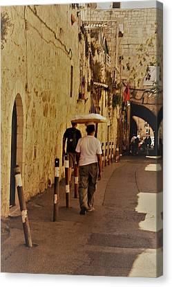 Balance In Jerusalem  Canvas Print