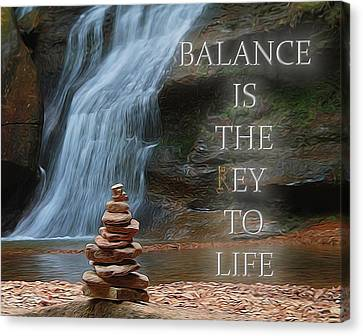 Balance Is The Key Canvas Print by Dan Sproul