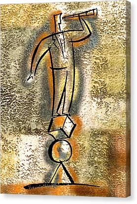 Balance Canvas Print by Leon Zernitsky