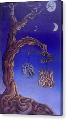 Balance Of Fire And Water Canvas Print by Natalia Kadish