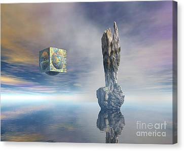 Balance Of Silent Machinery Canvas Print by Sipo Liimatainen