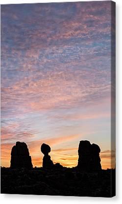 Balanced Rock At Sunrise Canvas Print