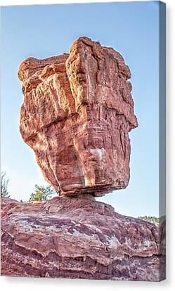 Balanced Rock In Garden Of The Gods, Colorado Springs Canvas Print