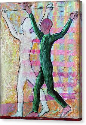 Canvas Print featuring the painting Balancing Joy by Priti Lathia