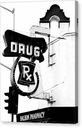 Balboa Drug Canvas Print by Rosanne Nitti