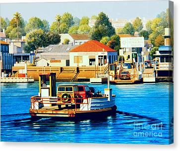 Wagon Canvas Print - Balboa Island Ferry by Frank Dalton