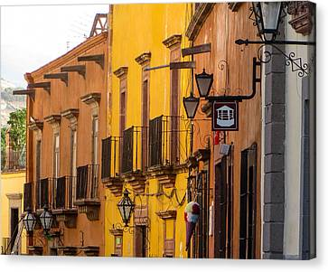 Mexico Canvas Print - Balconies And Doors. by Rob Huntley