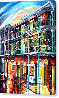Balconies On St. Peter Street Canvas Print by Diane Millsap