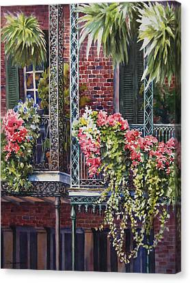 Balcony Gardens Canvas Print by Sue Zimmermann
