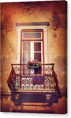 Balcony In Lisbon  Canvas Print