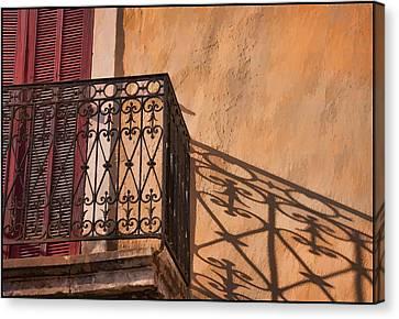 Balcony In Provence Canvas Print