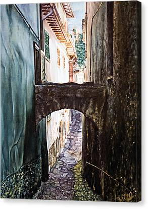 Balcony On The Arch Canvas Print