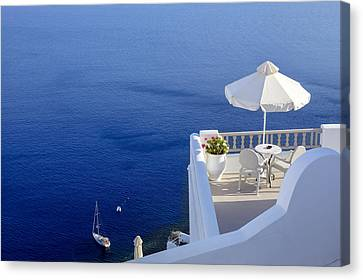 Aegean Canvas Print - Balcony Over The Sea by Joana Kruse