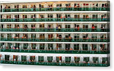 Balcony People Canvas Print by Perry Webster