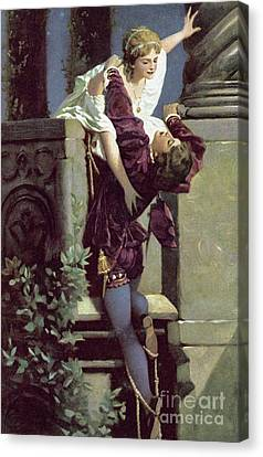 Juliet Canvas Print - Balcony Scene, Romeo And Juliet by English School
