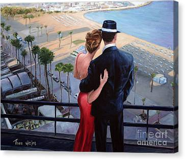 Larnaca Canvas Print - Balcony With A View by Theo Michael