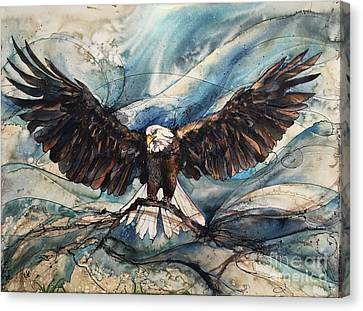 Canvas Print featuring the painting Bald Eagle by Christy Freeman