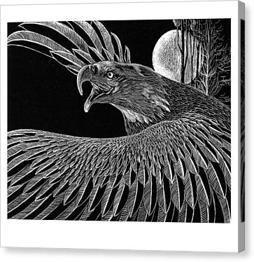 Raptor Canvas Print - Bald Eagle by Kean Butterfield