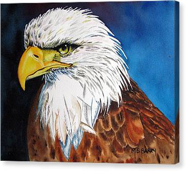 Bald Eagle Canvas Print by Maria Barry