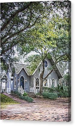 Bald Head Island Chapel Canvas Print