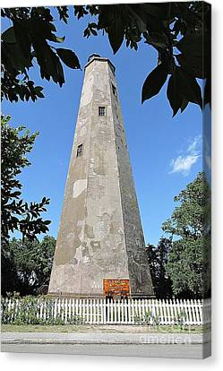 Bald Head Island Lighthouse Canvas Print by Shelia Kempf