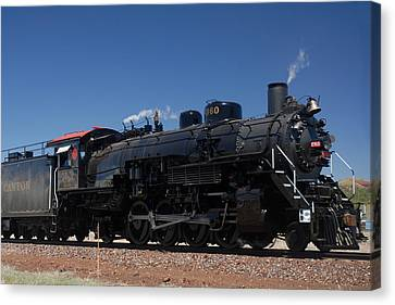 Baldwin Mikado 2-8-2 No 4960 Steam Locomotive Williams Arizona Canvas Print by Brian Lockett