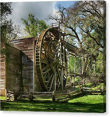 Bale Grist Mill Canvas Print by Stan Angel