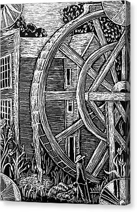 Bale Grist Mill Canvas Print by Valera Ainsworth
