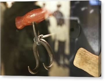Canvas Print featuring the photograph Bale Hooks by Miroslava Jurcik