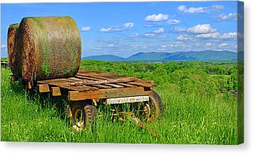 Bales At Rest Canvas Print