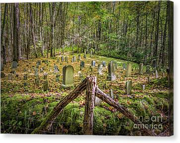 Bales Cemetery Canvas Print by Patrick Shupert